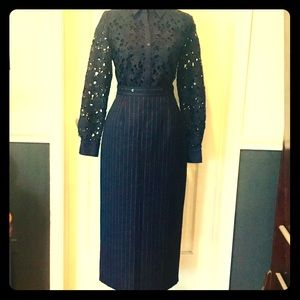 Dresses & Skirts - Excellent Condition High-Waisted Pinstriped Skirt